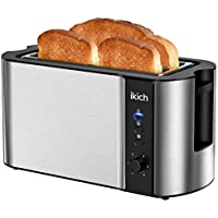 Ikich 6 Browning Settings 1300W 4 Slice Toaster