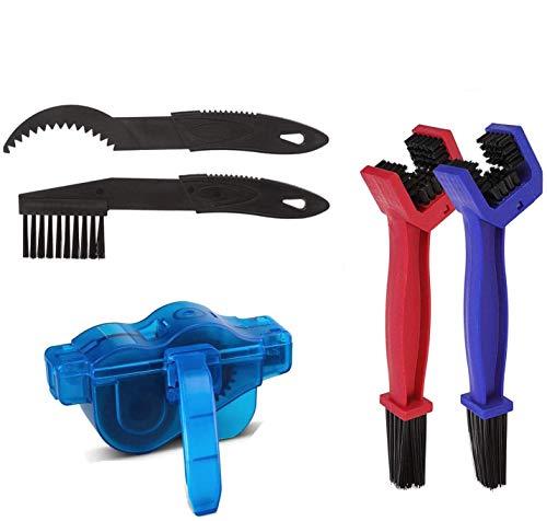 INTVN Fahrrad Kettenreiniger Kit, einfach und schnell sauber Ketten Scrubber Gear Brush Maintenance Cleaning Tool Set für Road Bikes Fahrrad Radfahren Mountainbike