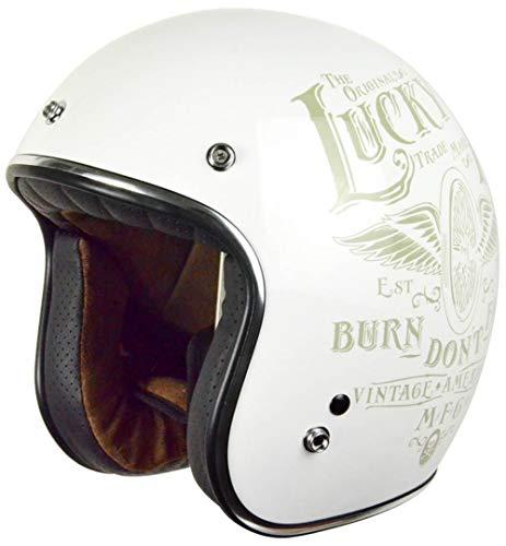 Origine helmets Motorradhelm Origine Primo Flying Wheel Gloss White, Weiß, Größe XL