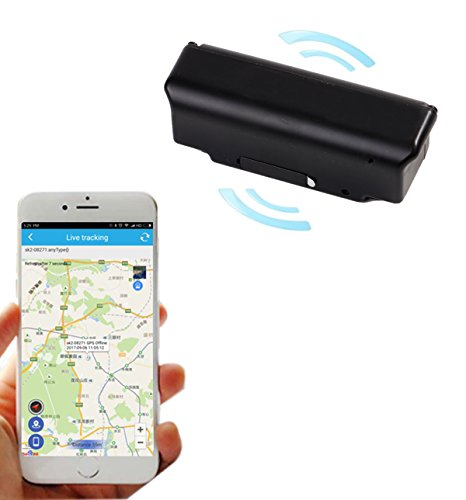 A AURA Smart GPS Tracker with Power Magnetic Anti-Theft Device Tracking Tool for Bike Car Police and Personal Safety(Black)