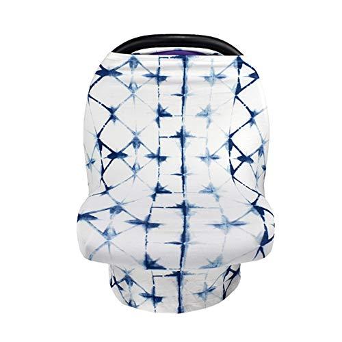 ZXL Stilltücher & -schals Stillen Sie Cover & Stillschal - Autositz, Kinderwagen, Baldachin und Einkaufswagen - Stilvoller Mehrzweck-Infinity-Schal,bluetiedyedplaid
