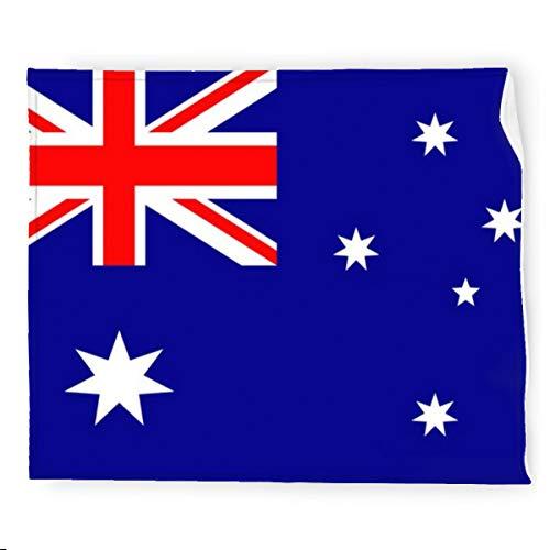 Manta de franela de la bandera de Australia manta de cama suave cálida acogedora colorida manta decorativa para sofá, sofá de 127 x 152 cm