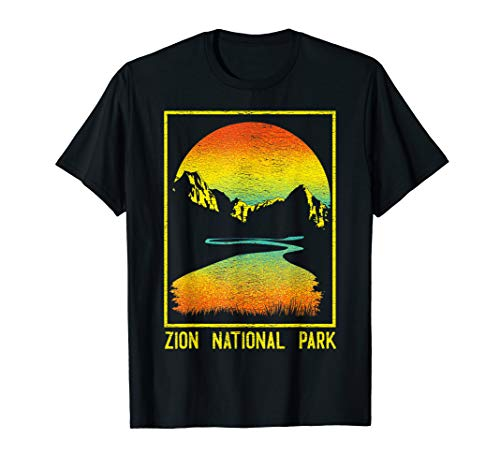 Vintage Zion National Park Utah Retro Hiking T-Shirt