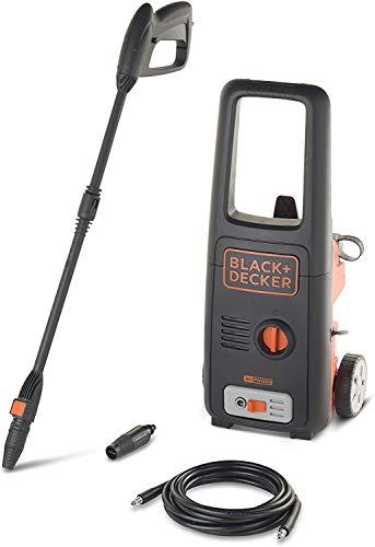 Black+Decker BXPW-1500-E Idropulitrice, Acciaio Inox, Nero