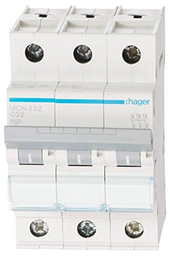 Hager MCN332 LS-Schalter 3P 6kA C-32A 3M Schraubtechnik