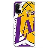 Movilshop Coque pour [ Xiaomi Redmi Note 10 5G / Poco M3 Pro 5G ] NBA Teams Officiel [Los Angeles...