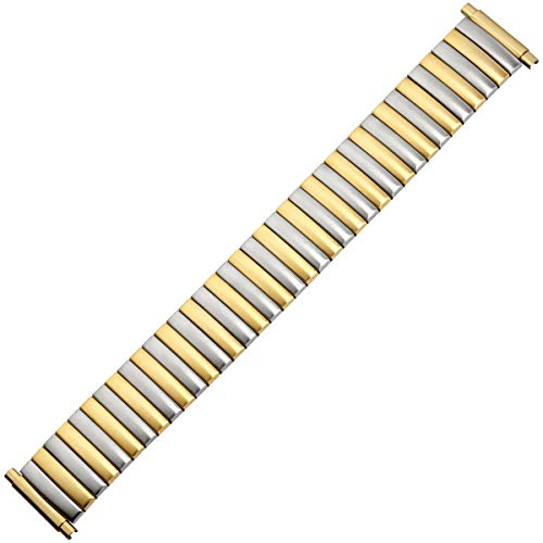 MARBURGER Uhrenarmband 16mm Edelstahl Gold Silber - 83308440020