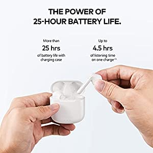 Wireless Earbuds, Bluetooth Earbuds Touch Control True Wireless Earbuds with Hi-Fi Stereo Audio, Noise Reduction, Waterproof Ear Buds, 25H Playtime