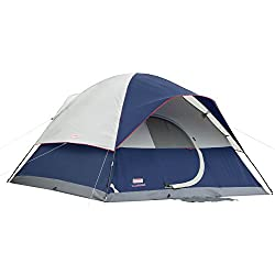music festival essentials: Coleman tent with LED and hinged door