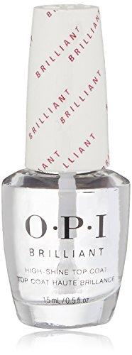 OPI Nail Polish Top Coat, Brilliant, High Shine Top Coat Finish, 0.5 Fl Oz