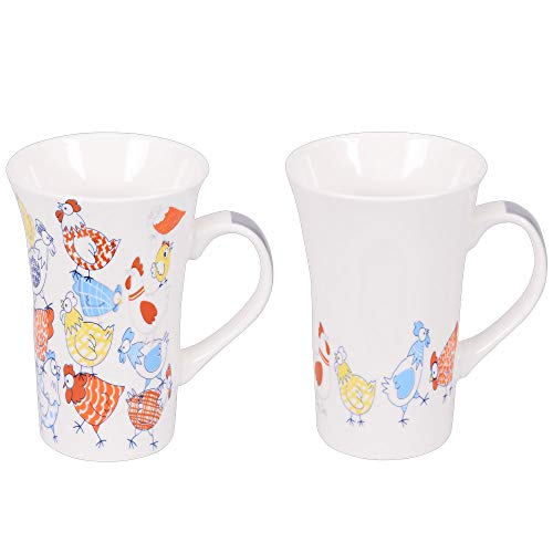 Table Passion - Coffret 2 mugs xl 55cl poules méli mélo