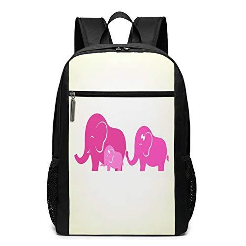 OMNVEQ Mochila Escolares Familia de Elefantes bebé, Mochila Tipo Casual para Niñas Niños Hombre Mujer Mochila para Ordenador Portátil Viaje