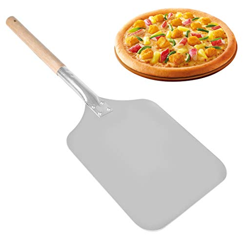 """Pizza Peel - 1Pc Pro Pizza Shovel Pancake Bakers Paddle with Heat Proof Wood Handle Practical Kitchen Bakery Oven Accessories, 9"""" x 22"""" Inch"""