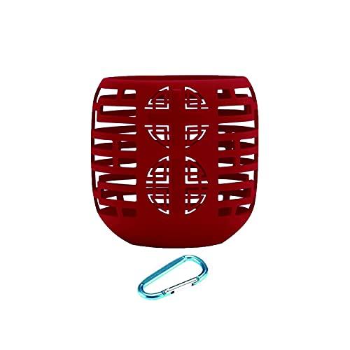 Yaowanguan Case Funda de Transporte de Silicona para Ultimate Ears UE Wonderboom 1 / Wonderboom 2 Altavoz Inalámbrico, Carcasas Protectora Ultraligera portátil con mosquetón(Rojo)