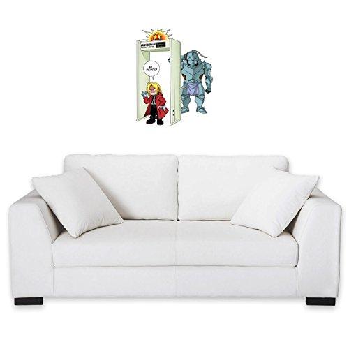 Okiwoki Sticker Mural Full Metal Alchemist - FMA parodique Edward et Alphonse Elric : Détecteur de métaux ! (Parodie Full Metal Alchemist - FMA)