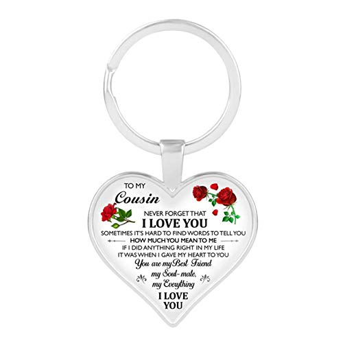 Xx101 Letter To My Daughter/teacher/girlfriend Key Ring Resin Epoxy Resin Heart-shaped Keychain Women's Men's Children's Gifts Jewelry Nixx0 (Color : DZKY0035)