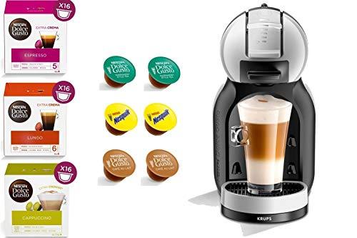 KRUPS Dolce Gusto Mini ME YY3888FD Gris - Machine à café Expresso et Autres Boissons automatiques + 54 Capsules