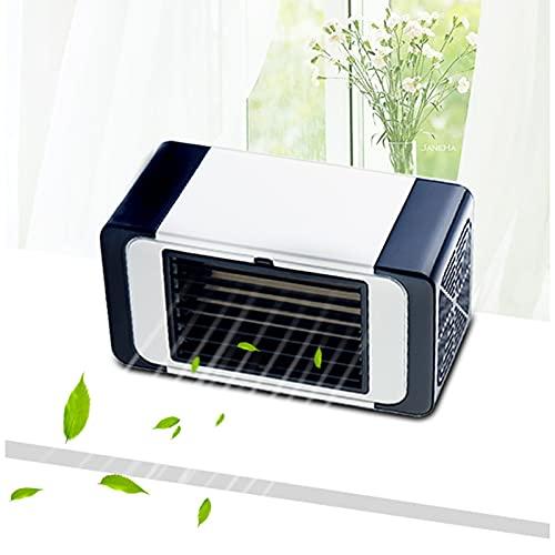 Aire acondicionado móvil, aire acondicionado, aire acondicionado portátil, mini aire acondicionado móvil, aire acondicionado silencioso, ventilador de escritorio para hogar verano (negro)