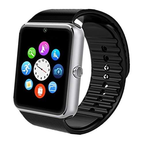 Aidiado Smartwatch, Touchscreen, Sport-Armbanduhr, für Android, iOS, Schrittzähler, mit SIM-Karten-Steckplatz, Kamera, kompatibel mit Samsung, für Herren und Damen