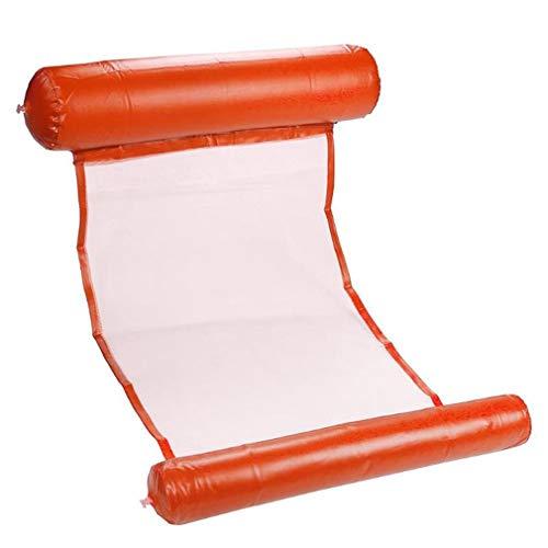 Sillón reclinable Inflable de Agua Fila Flotante de Agua Hamaca Flotante Hamaca de Agua Naranja