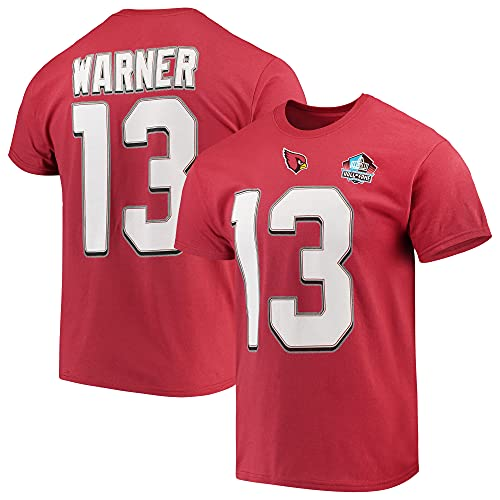 Majestic Athletic NFL Football T-Shirt Kurt Warner #13 Arizona Cardinals Hall of Fame Hof Trikot Jersey Receiver (M)