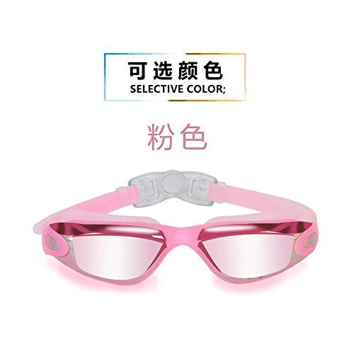 MHP Water- en mist-proof zwembril Amazon water- en mist-proof zwembril high-definition gegalvaniseerde zwembril grensoverschrijdende roze