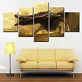 Cuadros enmarcados Dragon Poster Wall Art Canvas Painting Cuadros de Pared para Sala de Estar Decoración del hogar Tamaño 1 con Marco