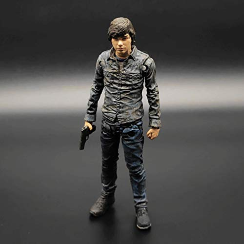 ZZQQ TV: The Walking Dead -Carl Vinyl Figure e Personaggi Exquisite Box Collection Vetrina Decorativi Giocattoli Popolari Action Figure 5 Pollici (Scatola Non Originale)