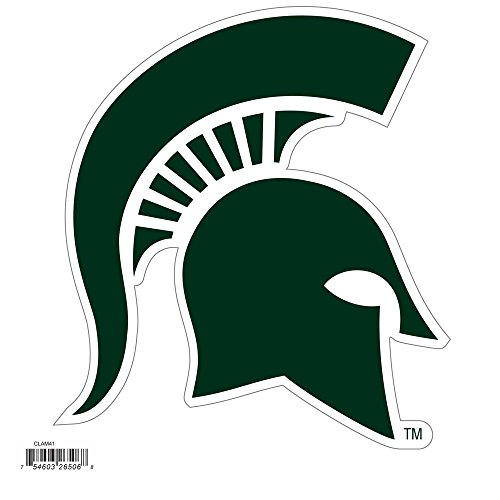 NCAA Siskiyou Sports Fan Shop Michigan State Spartans Logo Magnets 8 inch sheet Team Color