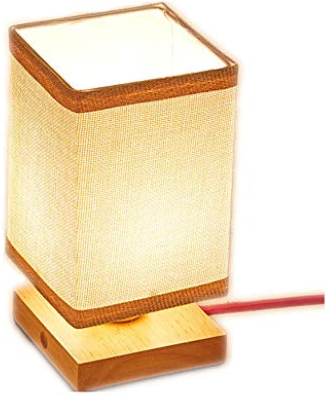 SMGHF neue Flut Reim Japanische Lampe Schatten Tisch Tisch Schlafzimmer-Bett Lesung Lampe Persnlich kreative Holz geführte Bar Tisch Lampe