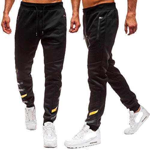 Capabes Pantalones de Hombre con cordón y Cintura elástica Pantalones Deportivos Ligeros, para Correr, Entrenar, Gimnasio, con Bolsillos con Cremallera XL