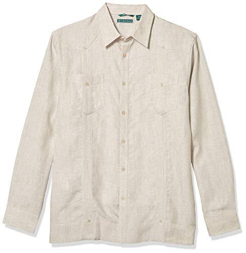 Cubavera Herren Guayabera-Hemd mit Zwei Taschen - Weiß - Klein