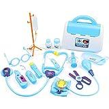 Botiquín De Primeros Auxilios para Los Niños De Primeros Auxilios Kit del Juguete Infantil Papel Pretend Carry Médica Kids Case Playsets Azul