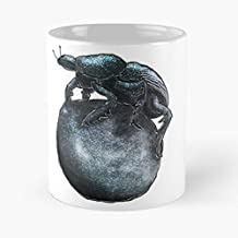 Dung Beetle Classic Mug - The Funny Coffee Mugs For Halloween, Holiday, Christmas Party Decoration 11 Ounce White-decathlon.