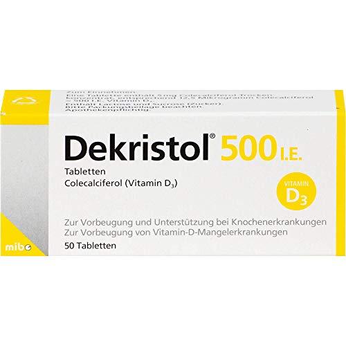 Dekristol 500 I.E. Tabletten bei Vitamin-D-Mangelerkrankungen und zur unterstützenden Behandlung der Osteoporose, 50 St. Tabletten