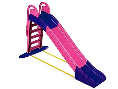 Miwido Rutsche Outdoor für Kinder - Kinderrutsche für Outdoor spielgeräte in den Garten - Klapprutsche Garten Spielgeräte - Outdoor Spielzeug ab 2 Jahre - Gartenrutsche für Baby Draußen (Pink - Lila)
