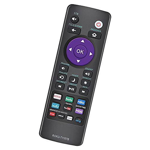 BOMAZ Universal Remote for Roku Smart TV and Roku Streaming Player Boxes, Control for Roku TCL HISENSE ONN Sharp Element Insignia HITACHI HAIER Philips Westinghouse LG RCA TV 32 43 55 70 75 UHD 4K TV