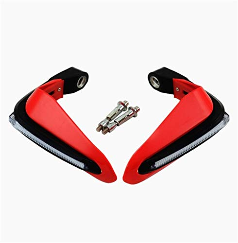Motorcycle cover and mouldings Motorcycle Handguard Hand Protectors With LED Fit For Benelli 502c Leoncino Trk 502x Trk 502 Accessories Trk502 600 Bn302 Tnt 125 Motorcycle Accessories ( Color : Red )