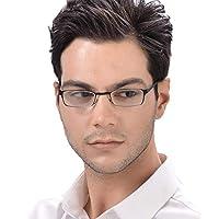 KLESIA 老眼鏡 非球面レンズ ブルーライトカット 折りたたみ型 軽量 コンパクトに収納 リーディンググラス (度数:3.0, 海松茶)