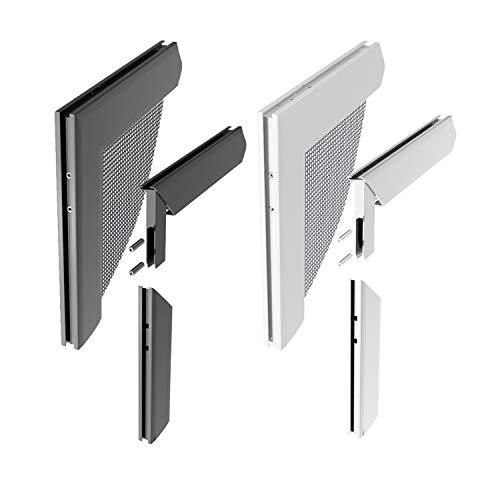 Windhager Insektenschutz Z8 Aluminium-Eckverbinderset für Spannrahmen Fenster und Türen, silber, Fenster : 90 x 107 cm , Türe : 88 x 199 cm , Schiebetüre : 108 x 231 cm .