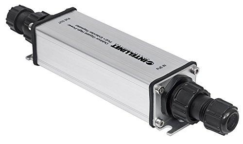 Intellinet 561211 Extender Repeater PoE + Gigabit High-Power per Esterno, Nero/Grigio