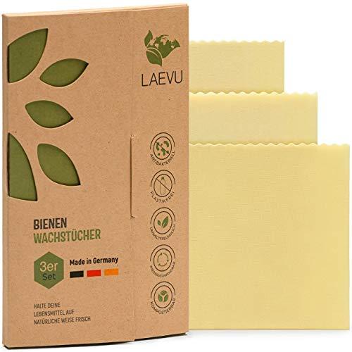 LAEVU - 3er Set - Bienenwachstücher Made in Germany
