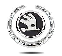 エンブレム シュコダのロゴのための2 KodiaqイエティKaroq素晴らしいA7ツアーRSオクタヴィアファビア1迅速なカーウィンドウサイドステッカートヨタ車体エンブレム装飾 FUYU (Color Name : Black)