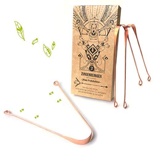 Nature Nerds - 3 limpiadores de lengua de cobre, estuche 100