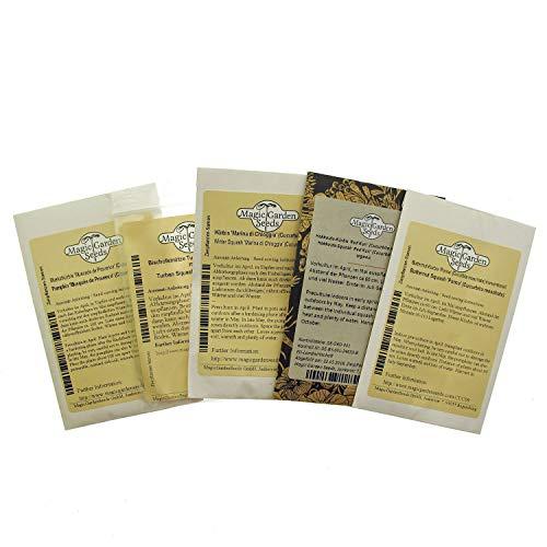 'Alte Kürbis-Sorten' Samenset mit 5 wohlschmeckenden und dekorativen Sorten