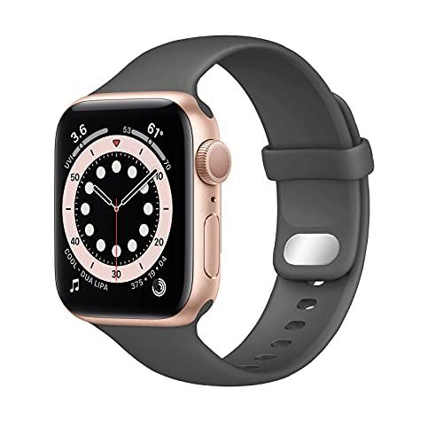 Lobnhot Compatibile per Cinturino Apple Watch 41mm 38mm 40mm,Cinturino di Ricambio in Silicone Morbido Sportivo Compatibile con iWatch Series 7 SE 6 5 4 3 2 1 per Donna Uomo (38/40/41MM-Cacao)