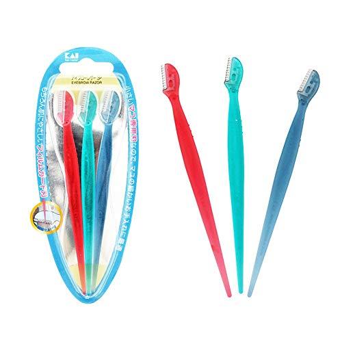 CGQCouteaux à sourcils, maquillage féminin et féminin, outils de beauté, filet de sécurité, fins couteaux à sourcils, trois packs