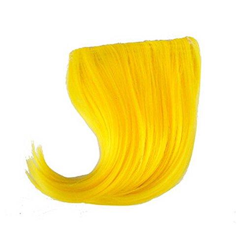 Colorful étape perruque, parti perruque, cheveux Bangs Perruques,Jaune