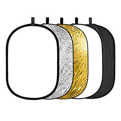 HaiQianXin 5 in 1 Tragbare 24 x 36/60 x 90 cm Runde Zusammenklappbare Multi Disc Fotografie Studio Foto Kamera Beleuchtung Reflektor/Diffusor Kit