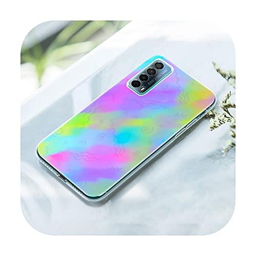 Gradient Rainbow picture Funda para Huawei P50 Pro P40 Lite E P30 Pro P10 Plus P20 Lite P Smart Z 2021 Pro 2019 Soft Cover-009-P10 Lite
